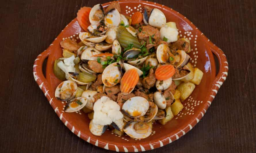'Further opportunities for bread moppage': pork and clams stew.