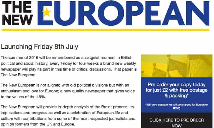 The New European website