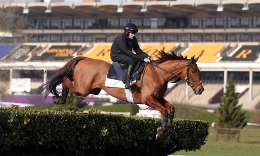 Jockey Rachael Blackmore aboard Balko Des Flos on the gallops at Cheltenham