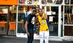 DJ Target (left) with DJ Ndile