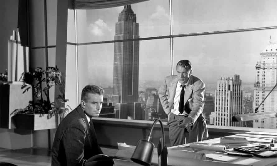 Kent Smith and Gary Cooper in The Fountainhead