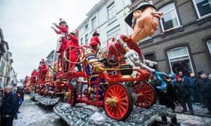 A carnival float in Aalst in 2017