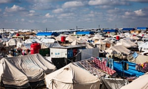The al-Hawl refugee camp.