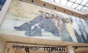 Topshop and Topman shops in the Bullring, Birmingham