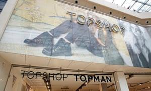 A Topshop store.