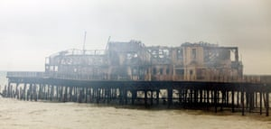 Hastings pier after the 2010 fire