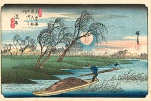 Seba Station, 1836/37 (Hiroshige, plate 32)