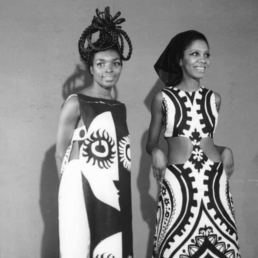 Barbara Blake-Hannah (right) modelling alongside the Jamaican actor Beryl Cunningham in 1967
