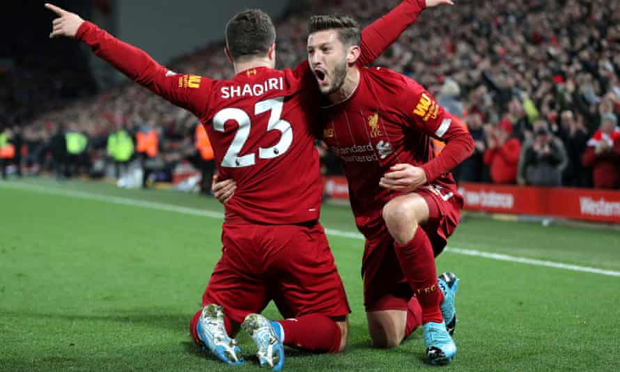 Xherdan Shaqiri, celebrating after scoring against Everton, and Adam Lallana came into the team and impressed.