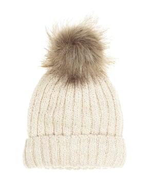 £7.99, hm.com. Pompom beanie hat