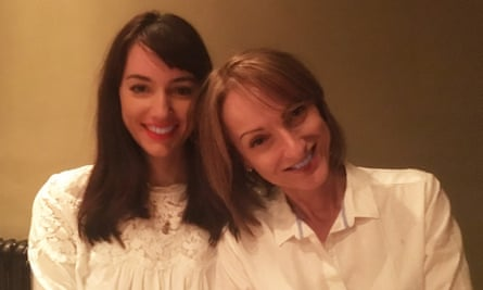 Rachel Wilson with her mother at her 25th birthday dinner in 2017.