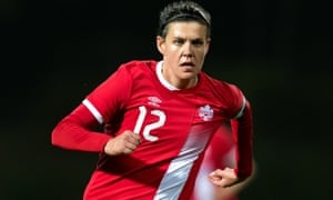 Christine Sinclair has 180 goals and is closing in on the women's international record of 184.