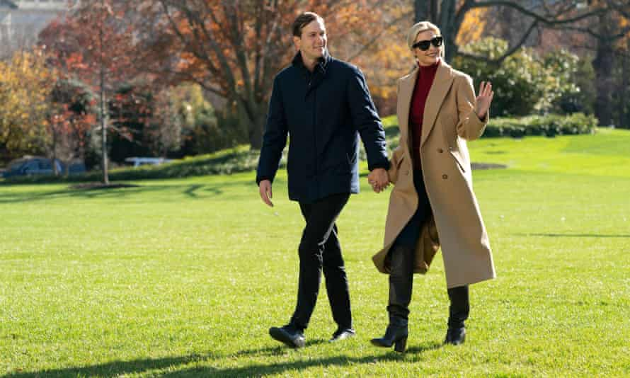 Ivanka Trump and Jared Kushner at the White House in Washington DC on 29 November 2020.