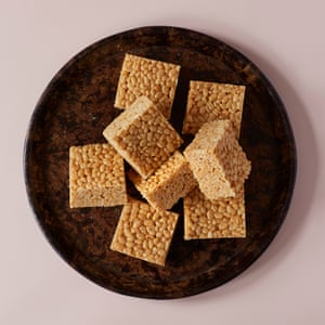 Jordan Bourke's salted miso toffee crispies
