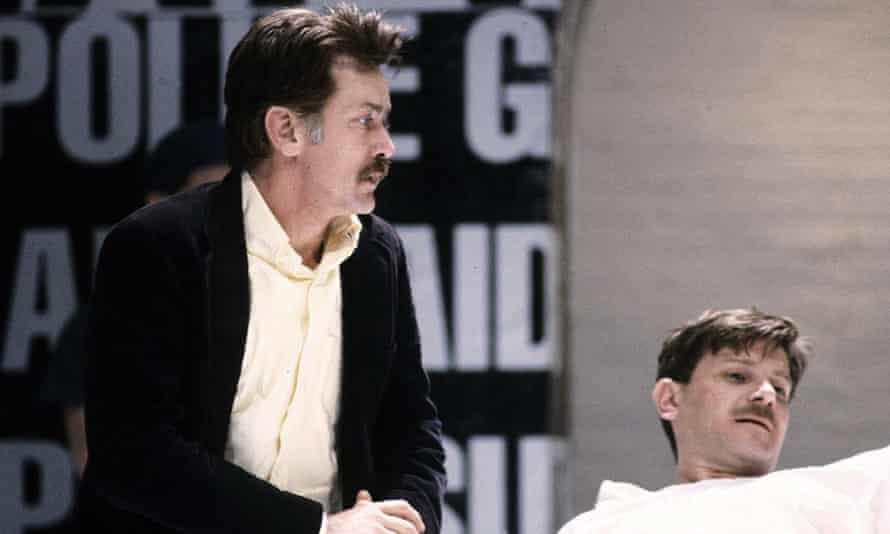 The Normal Heart, with Martin Sheen and Paul Jesson, at the Royal Court theatre, London, in 1986.