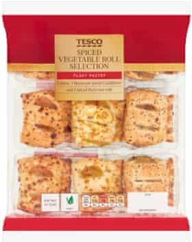 Tesco Spiced Vegetable Roll Selection