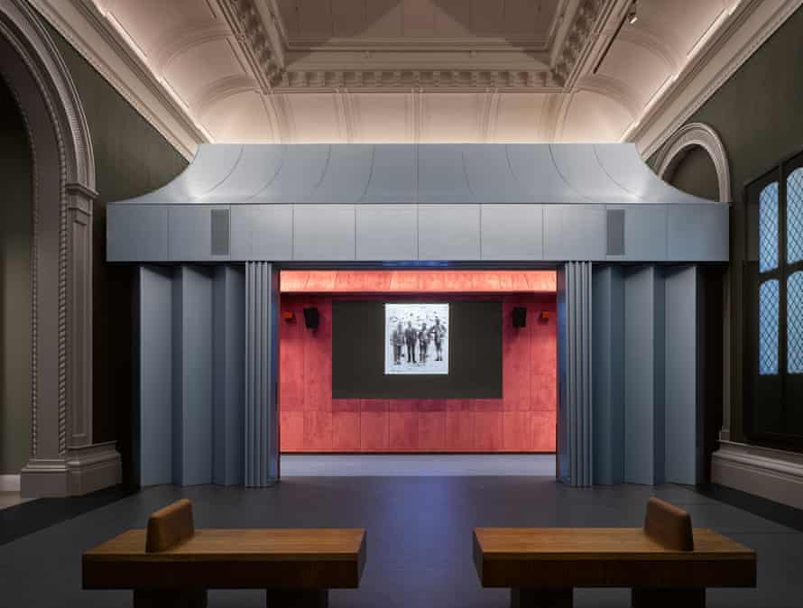 The dark tent in the V&A's new photography centre, designed by David Kohn.