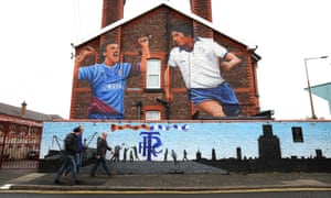 Tranmere fans walking to a match at Prenton Park
