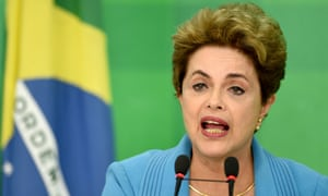 Brazilian president Dilma Rousseff speaks during a press conference at Planalto Palace in Brasilia on Monday.
