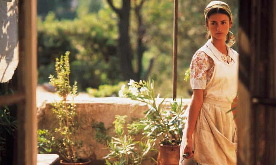 Penélope Cruz as Pelagia in the 2001 film of Captain Corelli's Mandolin.