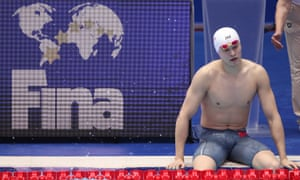 Sun is competing at the world championships under the shadow of a World Anti-Doping Agency appeal against Fina's decision to clear him of any wrongdoing.