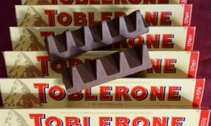 New and old toblerone bars