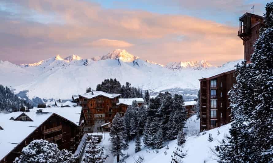 Les Arcs in the Tarentaise valley, one of the ski resorts served by the Travelski charter train.
