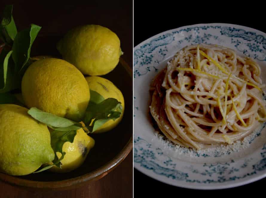 Rachel Roddy's creamy lemon pasta with parmesan.