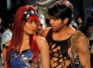 Frenzied flop ... Priyanka Chopra and Harman Baweja in Love Story 2050.