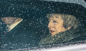 Theresa May heads from Downing Street to the House of Commons to face the vote of no confidence.