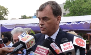 British high commissioner to India Dominic Asquith in Amritsar