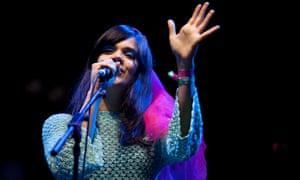 Natasha Khan, AKA Bat for Lashes, at Glastonbury 2016.