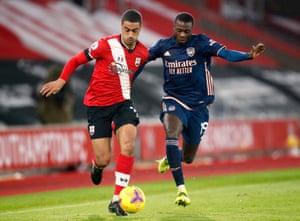 Southampton's Yan Valery on the ball.