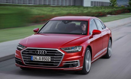 The Audi A8: supposedly leading the pack, technology-wise.