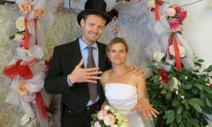 Deborah Nicholls-Lee with her new 'husband', Julian.