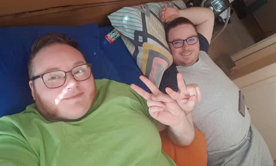 Erin Kyan (left) with his boyfriend Lee Davis-Thalbourne. The photo is supplied by Erin Kyan