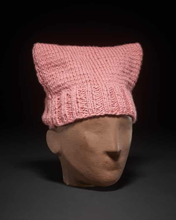 Pink Hat (Pussyhat), USA, 2017, knitted wool