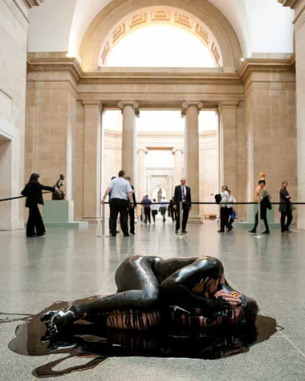 Oil spill … the Liberate Tate protest against BP's sponsorship at Tate Britain in 2011.