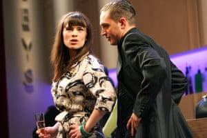 Hayley Atwell and Tom Hardy in Man of Mode, Olivier, London, 2007.