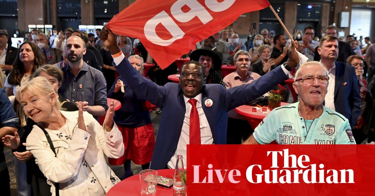 German election live: Social Democrats edge ahead in chancellor race as CDU plunges to historic low