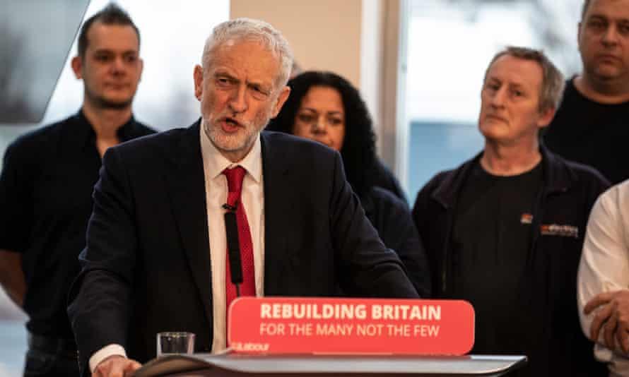 Jeremy Corbyn makes a speech in Wakefield
