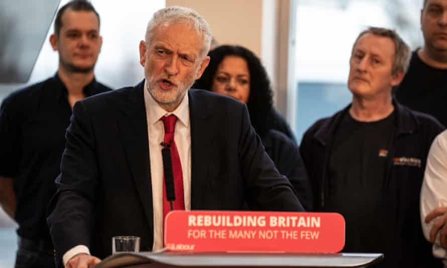 Jeremy Corbyn outlines his party's approach to Brexit at the OE Electrics factory in Wakefield, West Yorkshire.