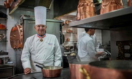 Paul Bocuse in his kitchen at L'Auberge du Pont de Collonges, near Lyon, 2012.
