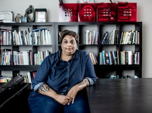 Roxane Gay in an office
