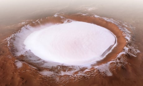 Mars Express beams back images of ice-filled Korolev crater