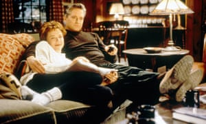 Annette Bening and Michael Douglas in The American President.
