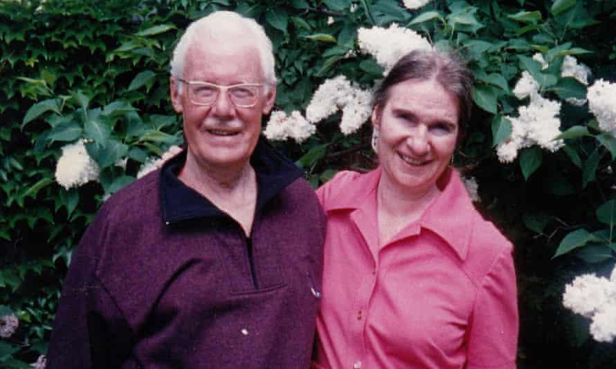 Goldie Morgentaler with her Chava's friend Douglas Jensen, in 1996.