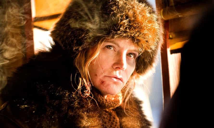 Unfazed … Jennifer Jason Leigh in The Hateful Eight.
