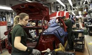 A Jaguar production line at Tata's factory in Castle Bromwich, Birmingham.