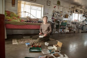 Susie Molloy collects Native American pottery that fills the Arizona landscape near her home in Snowflake. Molloy was one of the first people to move to the remote area to escape modern life.